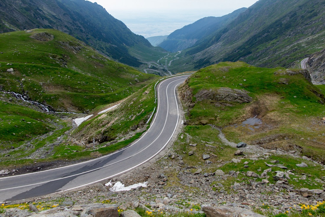 View of Transfagarasan from the top