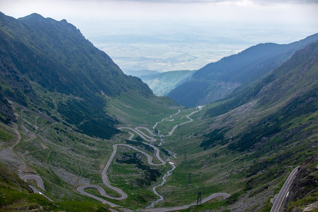Hairpin turns and serpentines on Transfagarasan