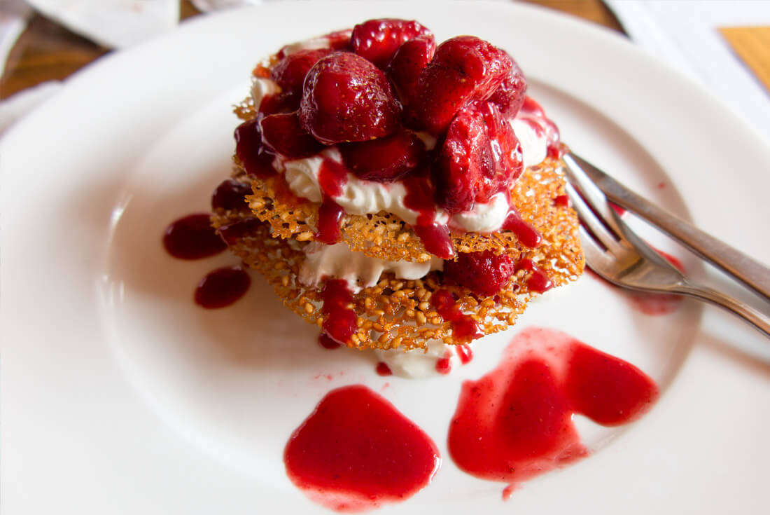 Delicious dessert in Kumanek Restaurant, Tiraspol