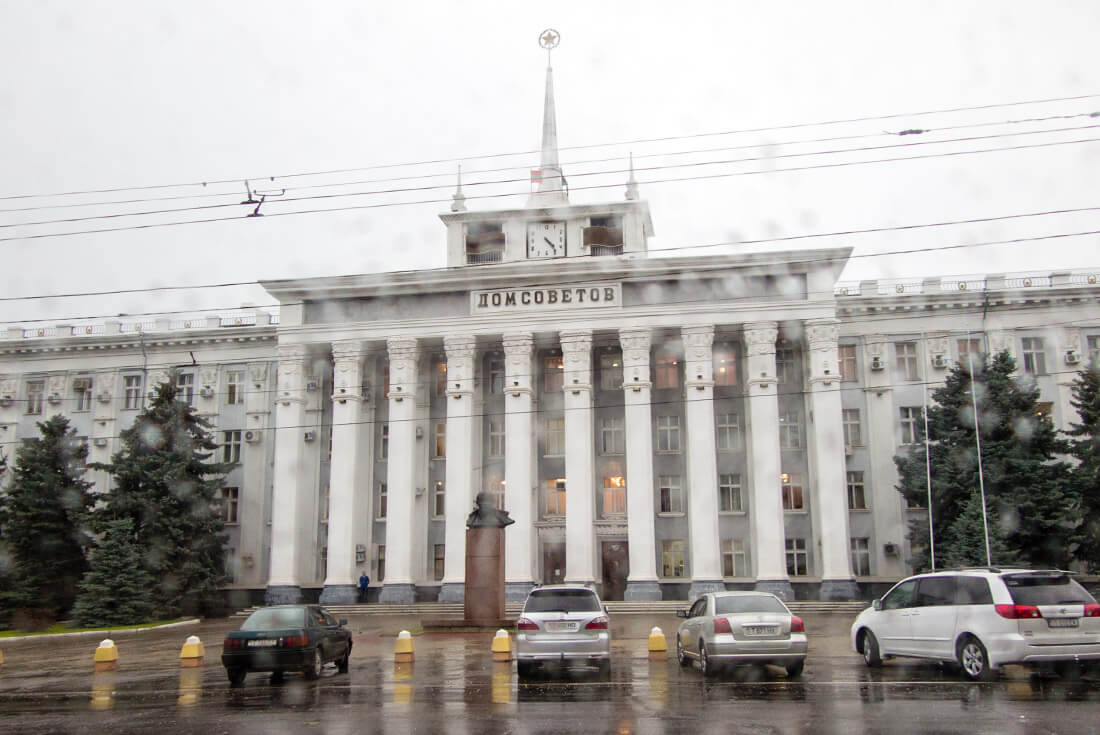 Transnistrian Parliament on a rainy day...