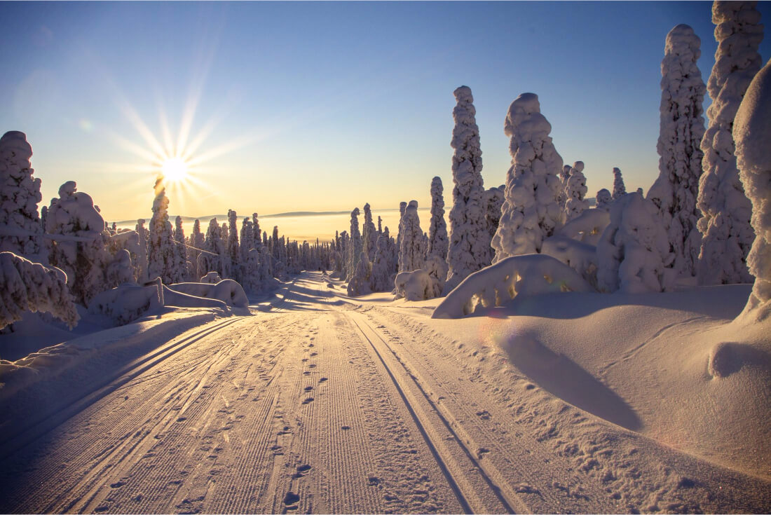 Beautiful Lapland (Finland) winter: Snowy horizons and magic