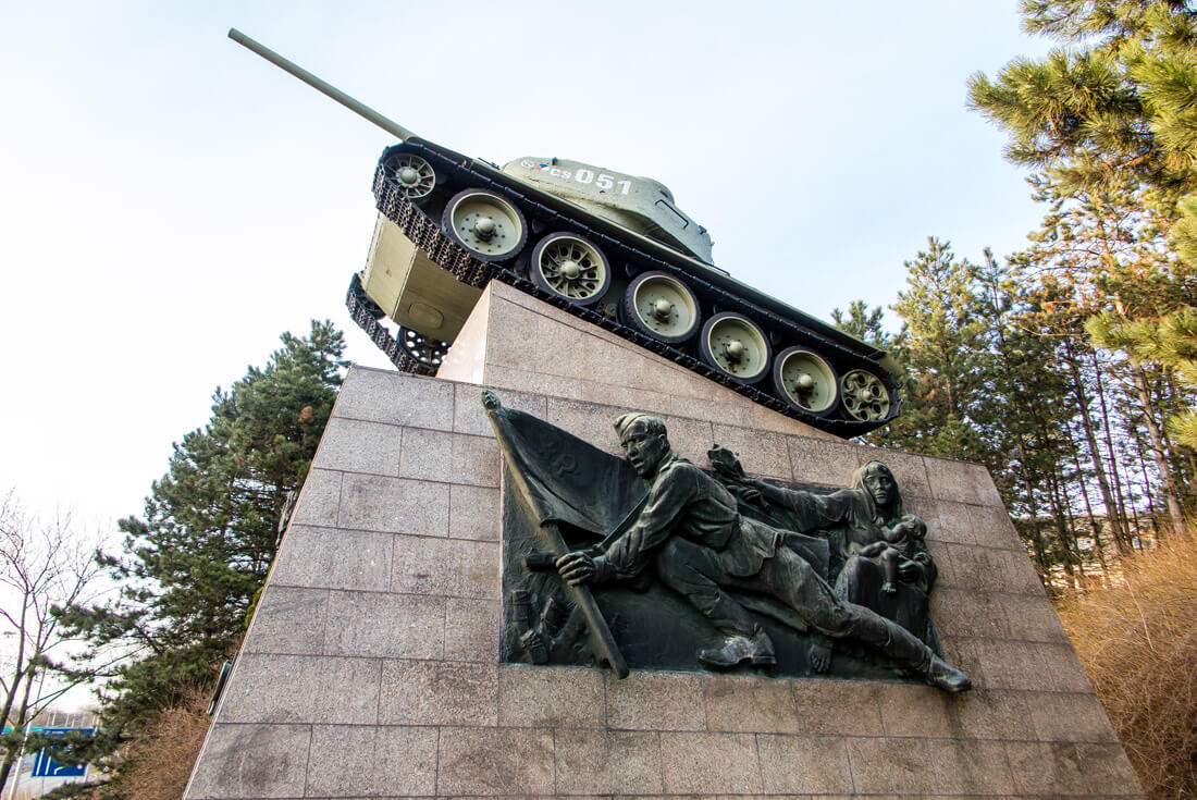 Memorial of the 1st Czechoslovak Independent Tank Brigade in the USSR (near the Ema Heap) Ostrava Czech Republic