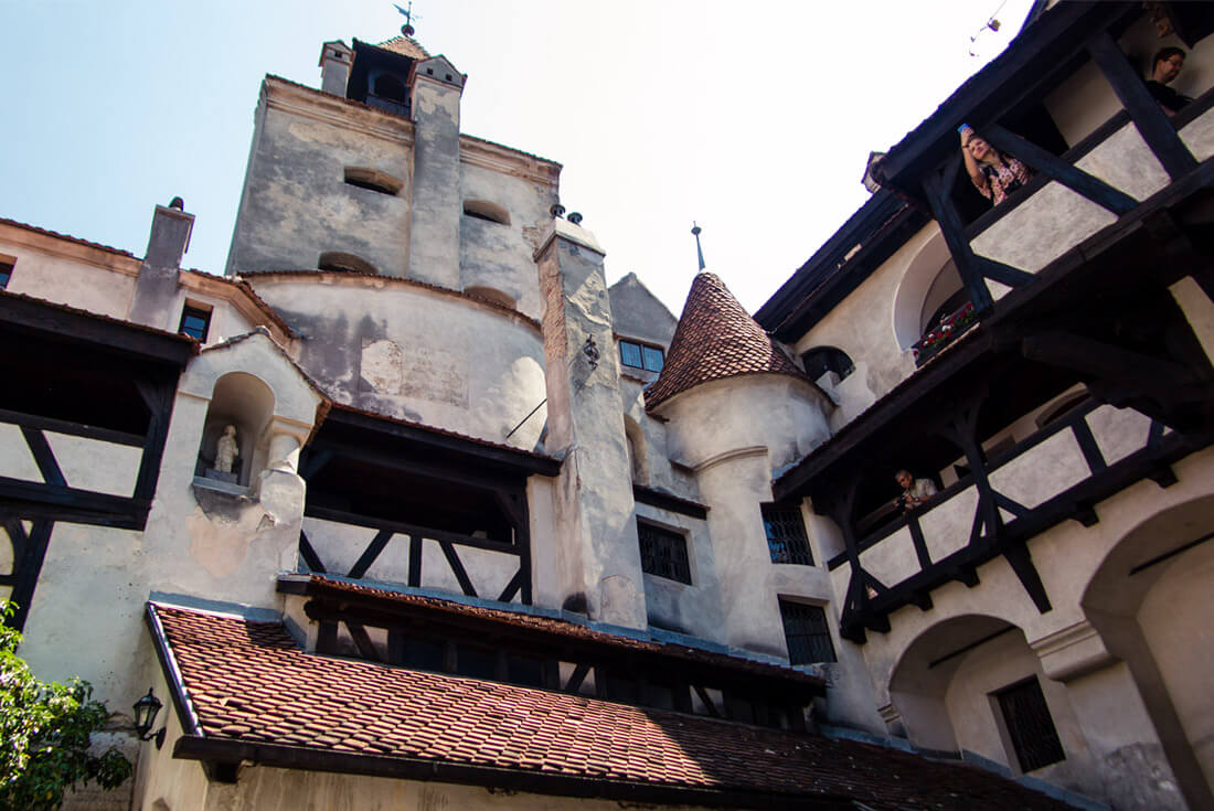 Inner Courtyard of Bran Castle, Transylvania