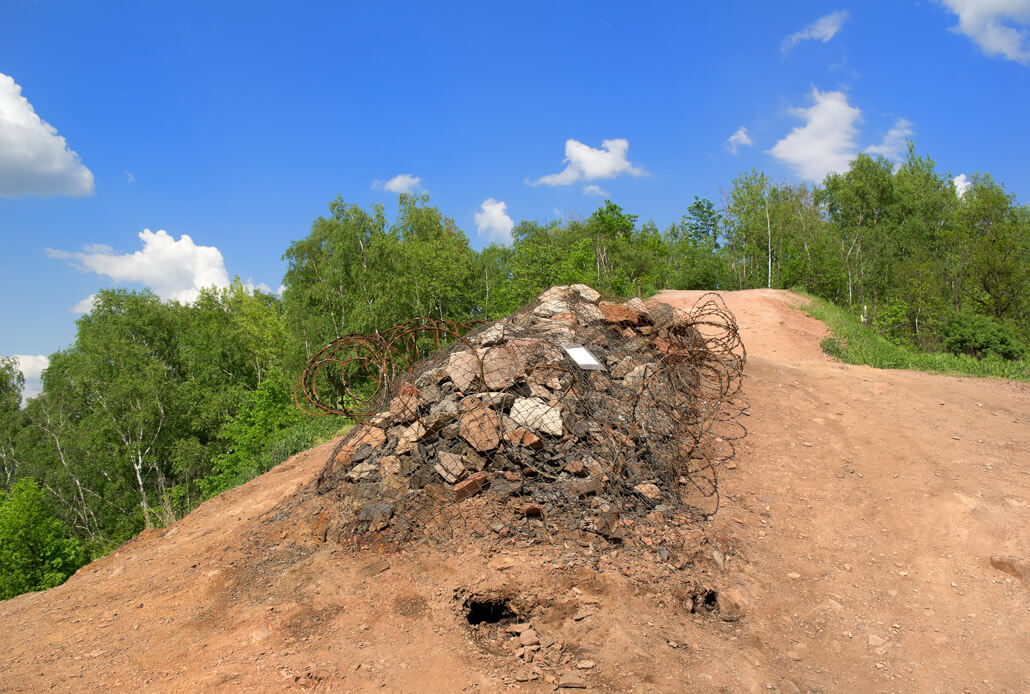 Ema Slag Heap, an artificial hill in Ostrava Czech Republic