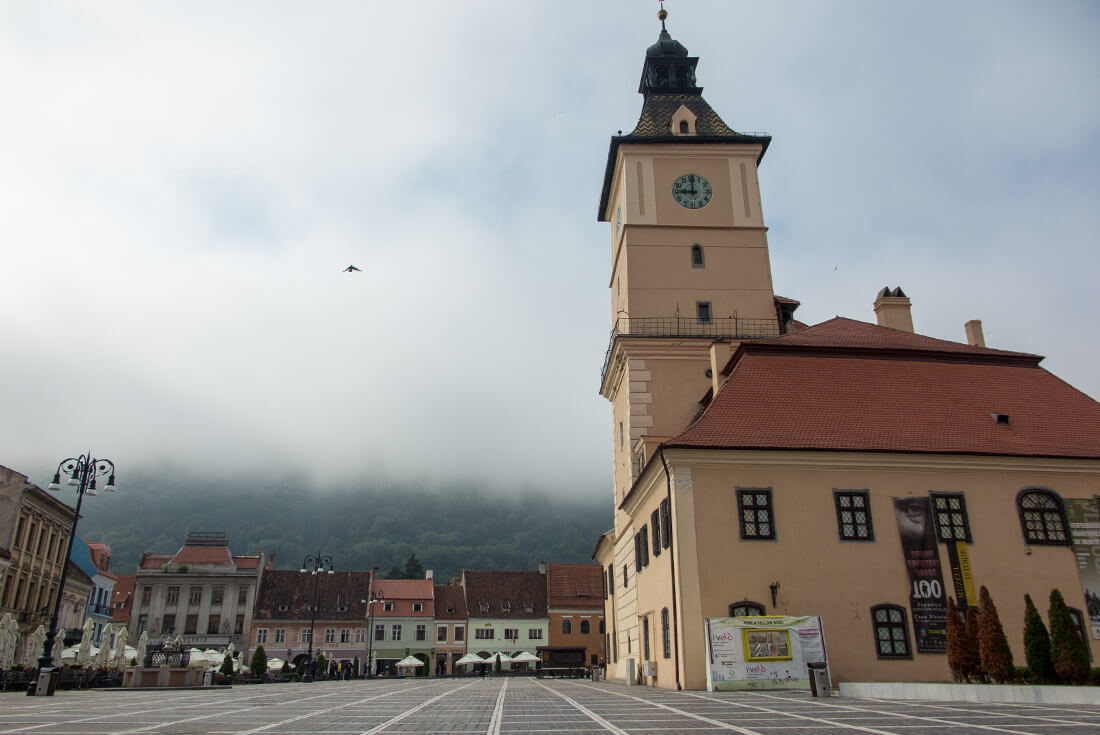 Misty morning in Brasov, Transylvania