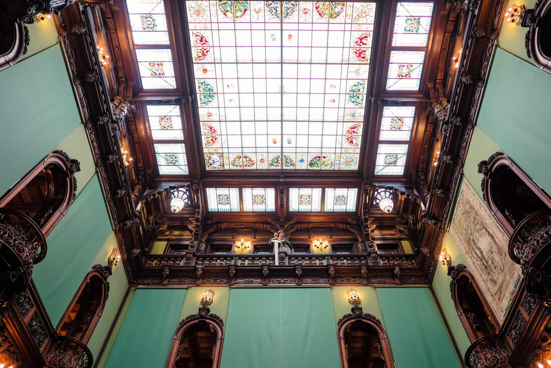 Opening roof in Peles Castle, Romania