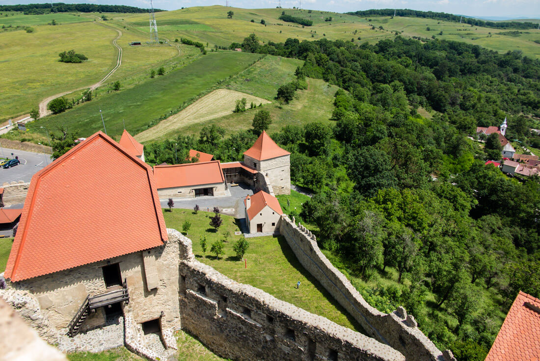 View from the top of Rupea Fortress, Romania
