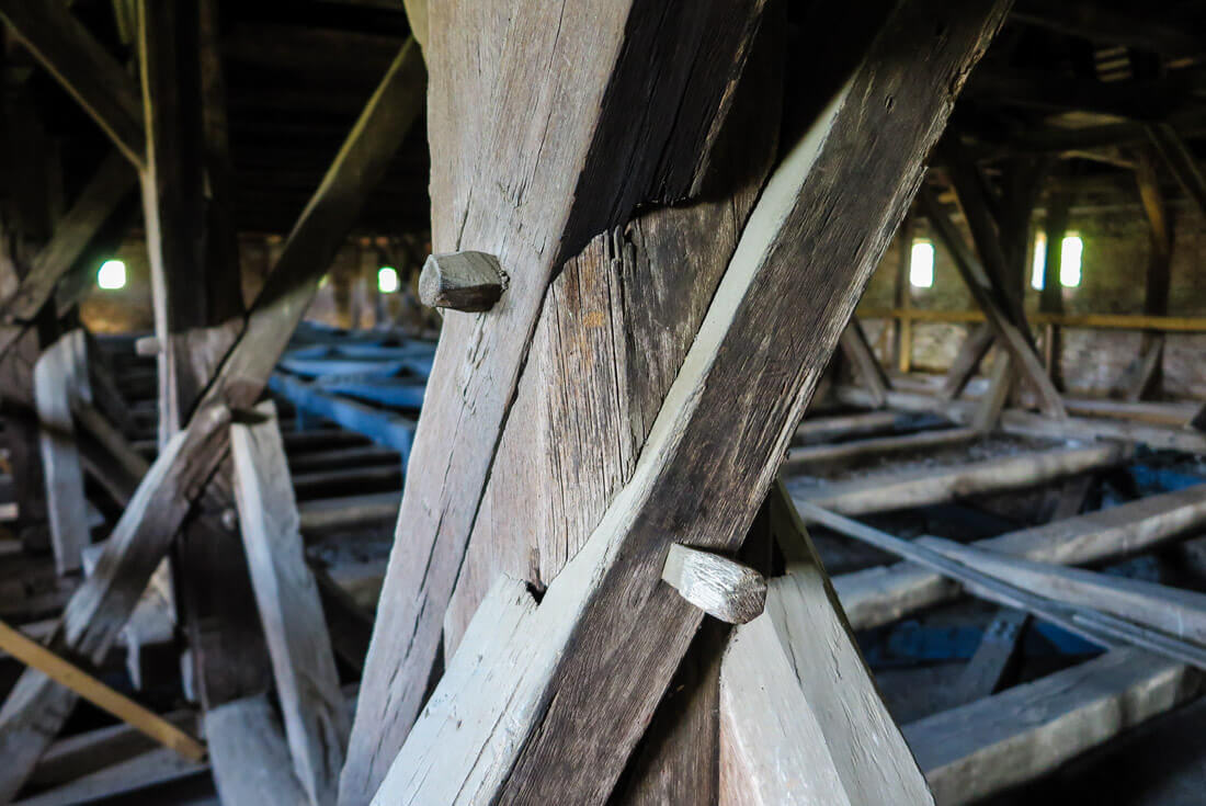 Old wooden upper floor of the Saschiz church