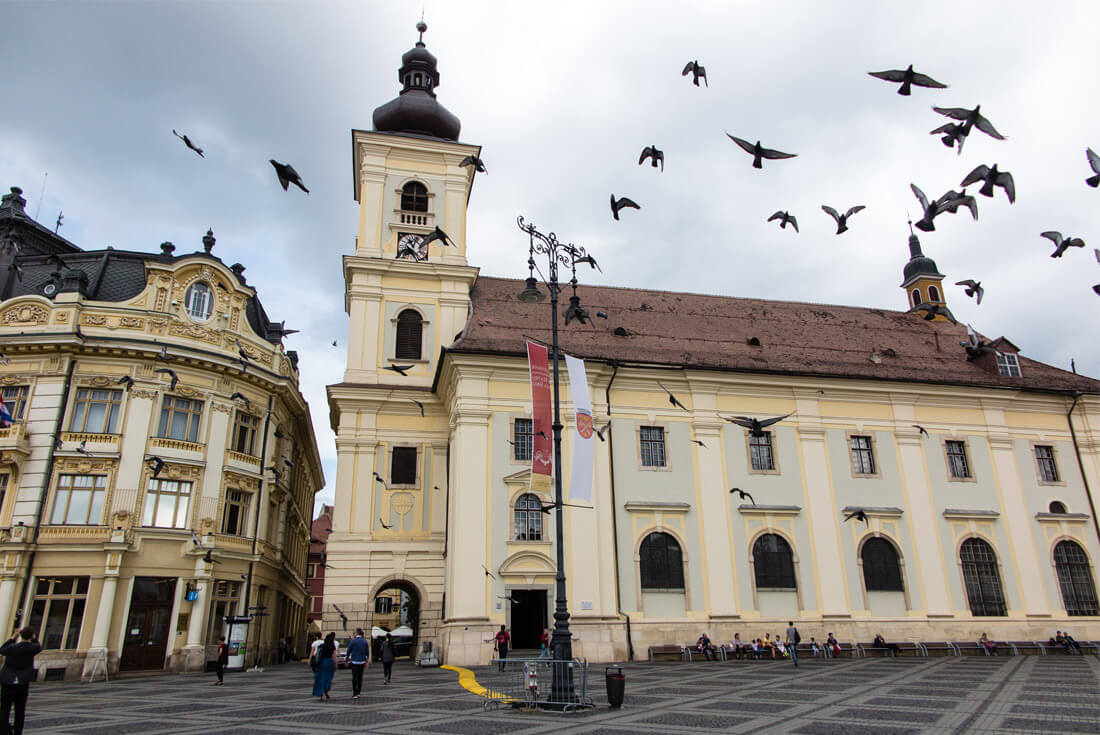 Sibiu's Great Square and the Roman Catholic Church