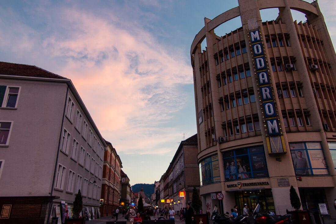Strada Republicii in Brasov Transylvania
