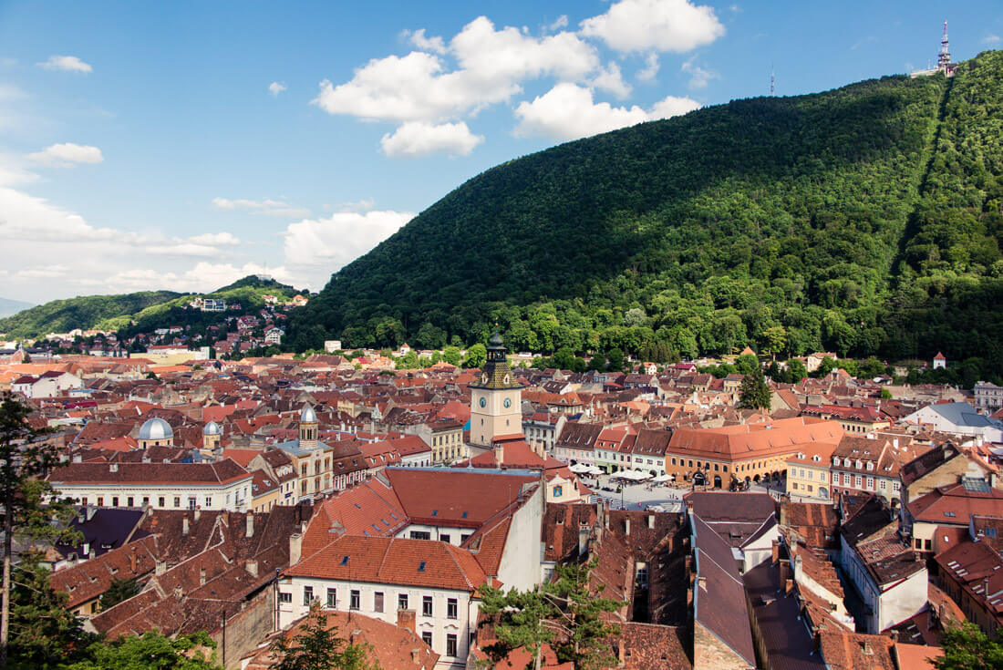 View of Brasov City from the White Tower