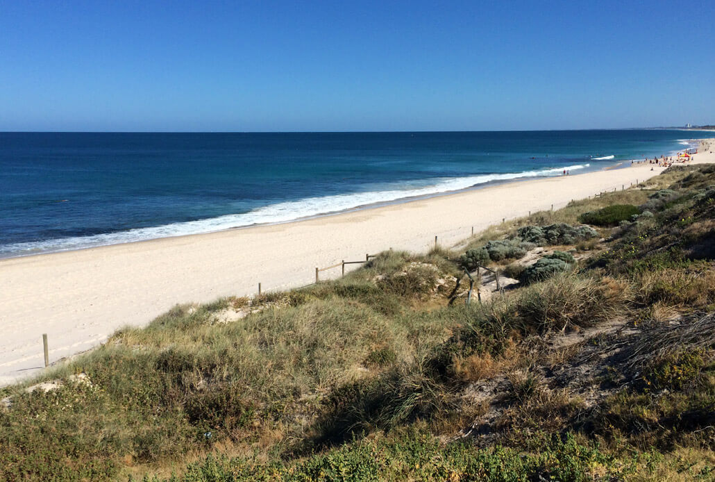 Cottesloe Beach just on the outskirts of Perth