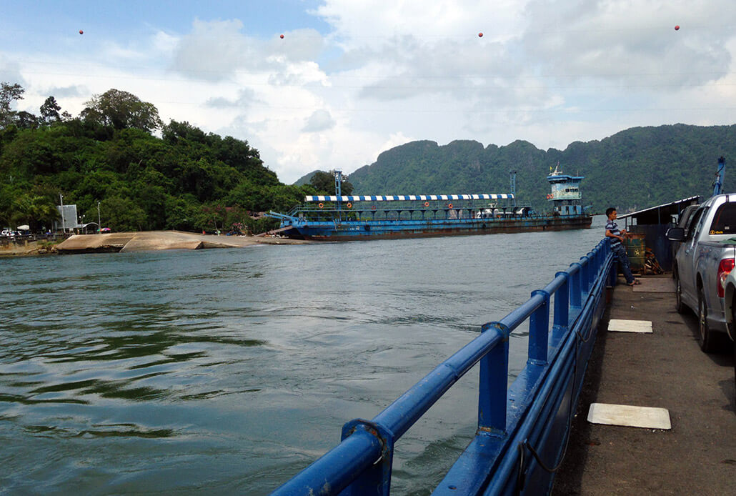 On one of the two ferries to Koh Lanta