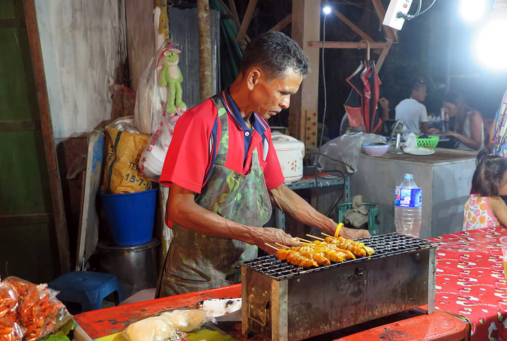 Street food dinner in Ban Saladan, Koh Lanta, Thailand