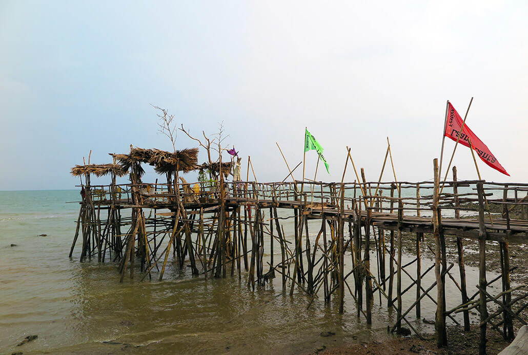 Spooky, yet beautiful, pier of Lanta Sang Kha Ao Nature Resort & Spa