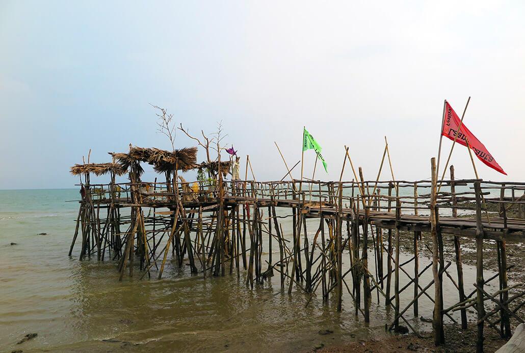 Spooky, yet beautiful, pier of Lanta Sang Kha Ao Nature Resort & Spa