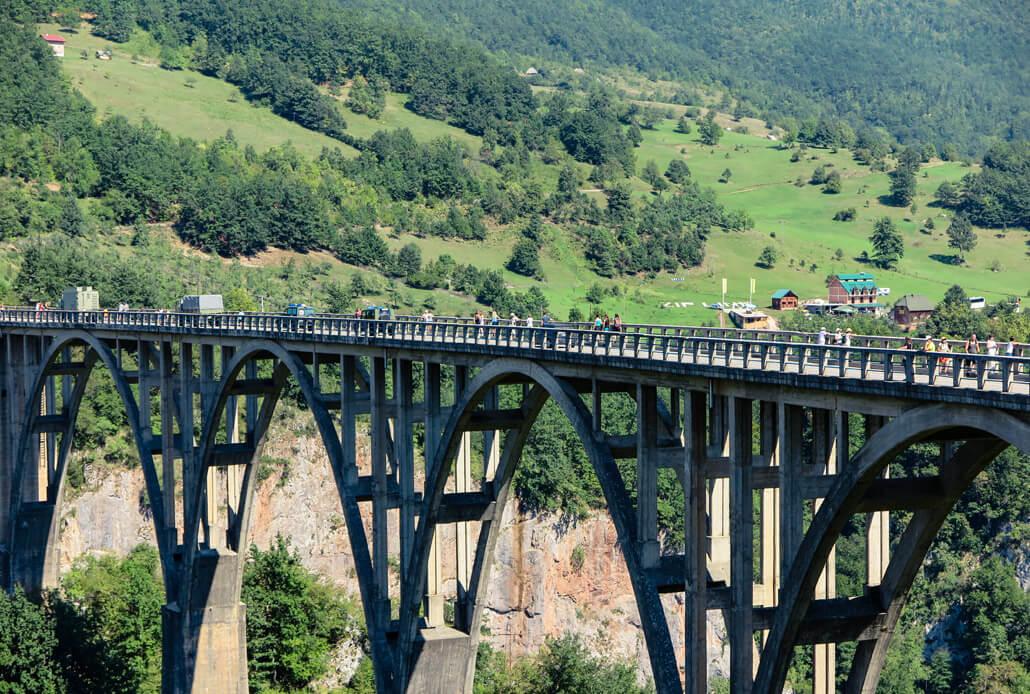Durdevica Tara Bridge in Durmitor, Montenegro