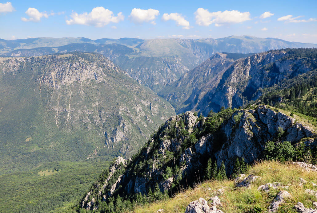 Curevac viewpoint with the view of Tara River Canyon, Durmitor Mountains, Montenegro