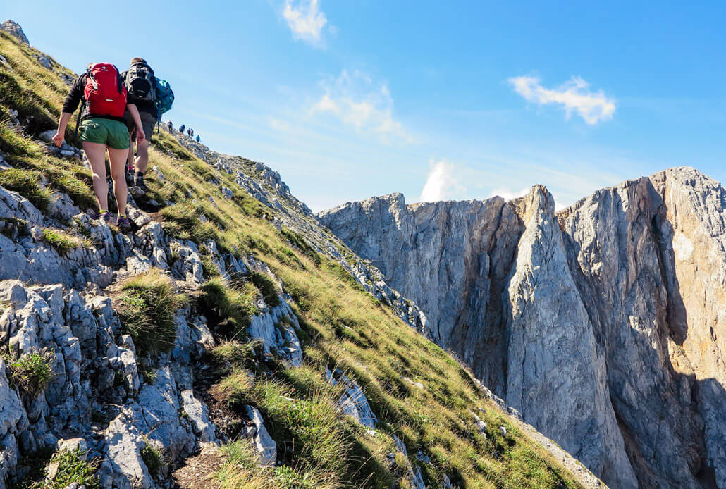 Heading to the top of Kom Vasojevickij, Komovi Mountain Range, Montenegro