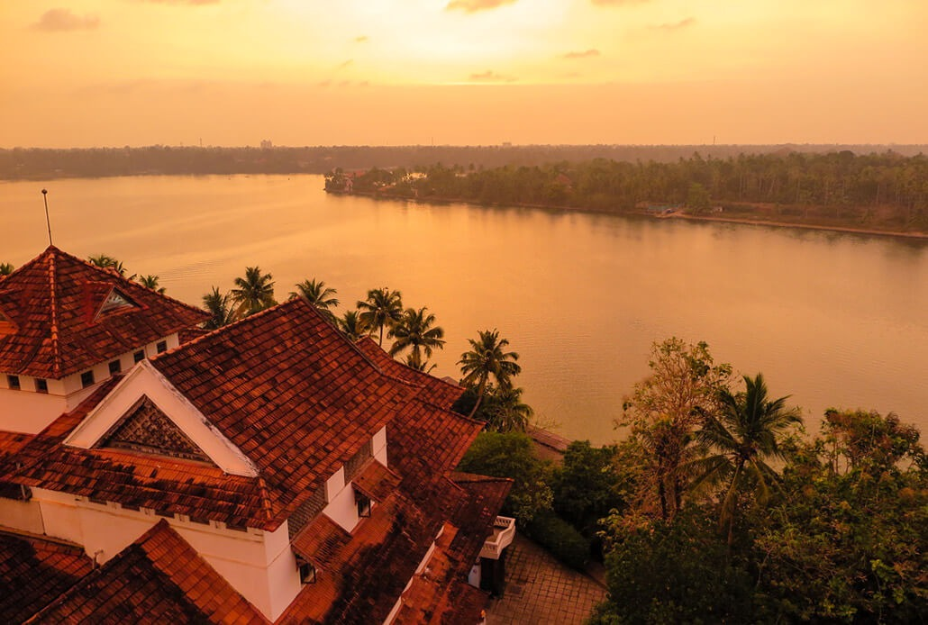Best Kerala Hotels Edition: Sunset at Raviz hotel, Kerala, India