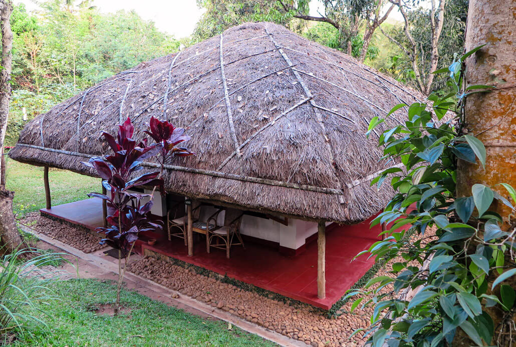 Huts in Spice Village hotel, Kerala, India