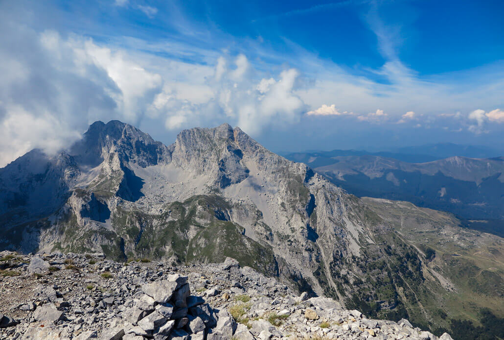Breathtaking views from the top of Kom Vasojevickij, Komovi, Montenegro