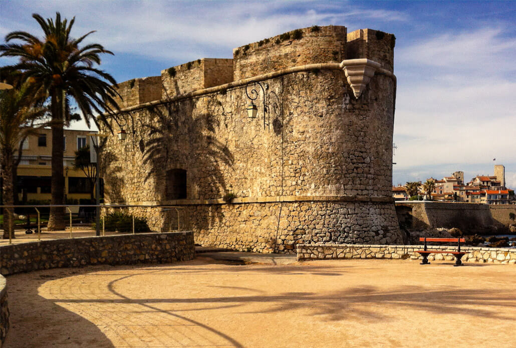 An old fortress in Antibes France