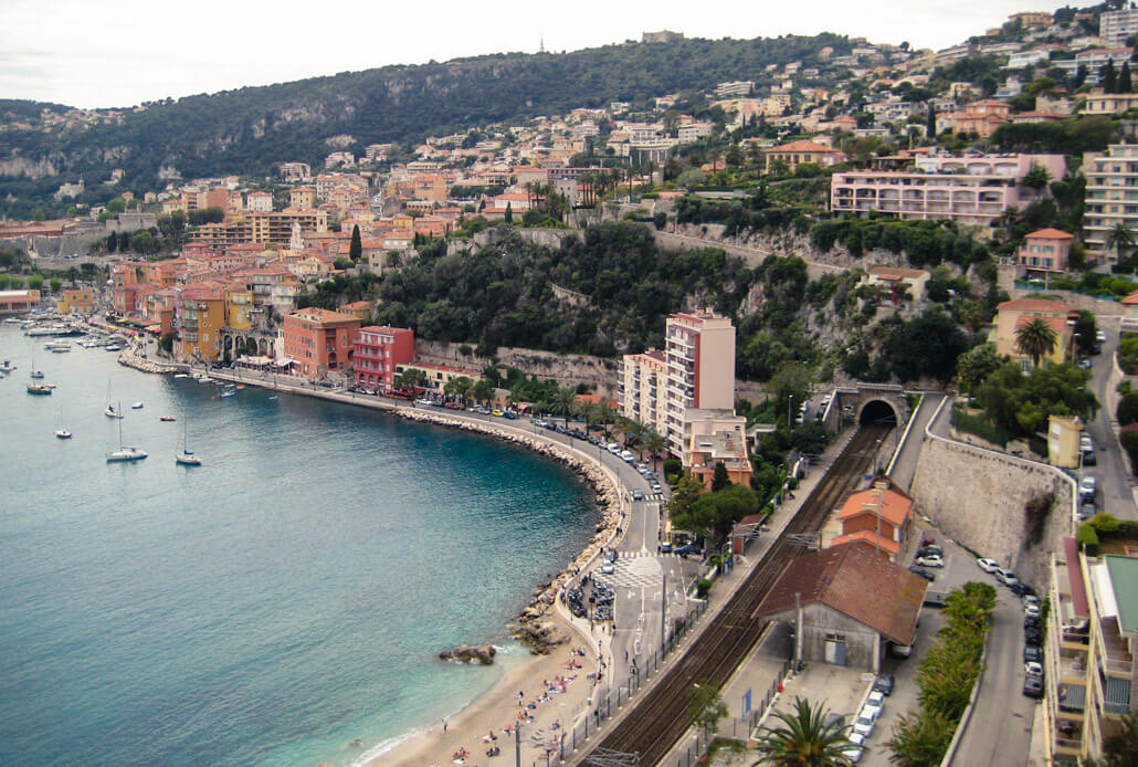 View of Villefranche sur Mer - one of the easiest Nice day trips