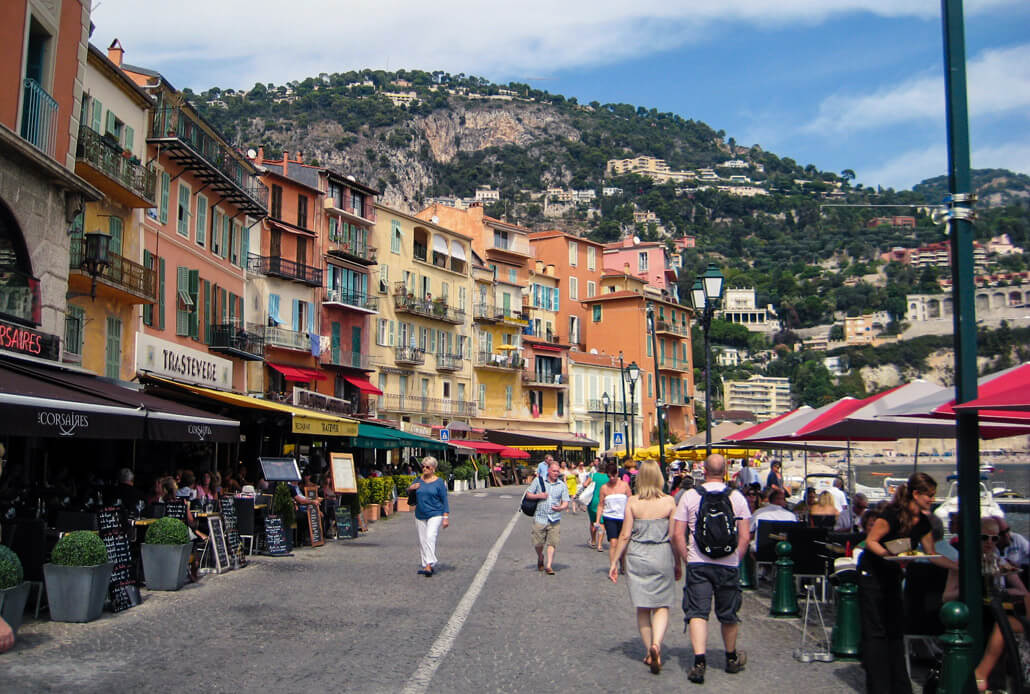 Villefranche sur Mer is one of the easiest Nice France day trips