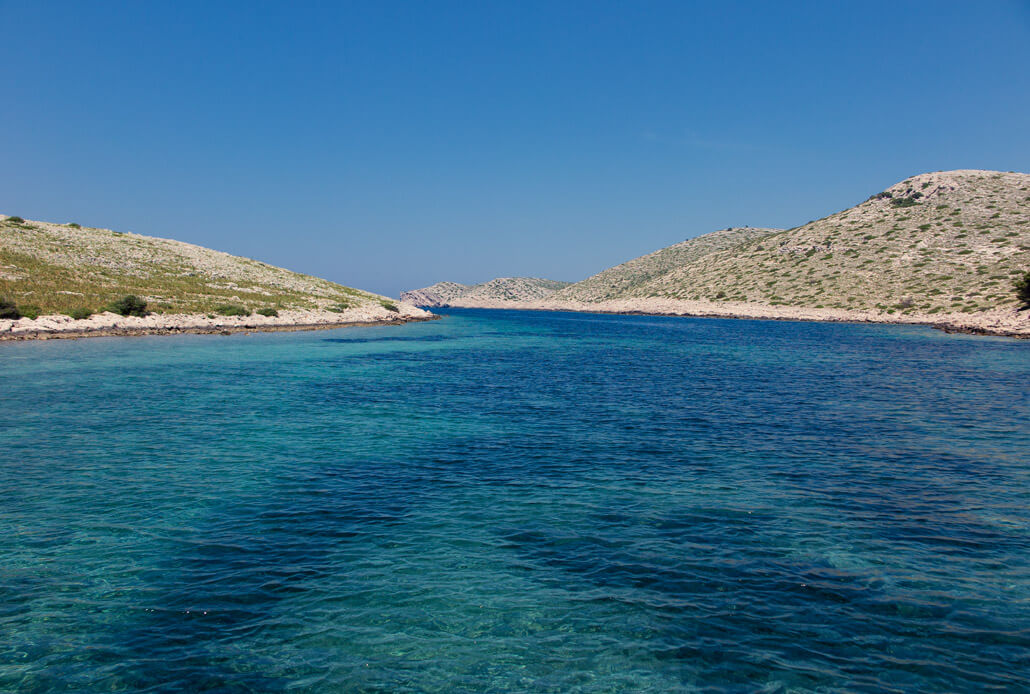 All shades of blue among the Kornati islands