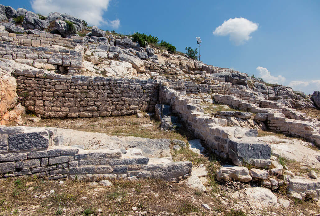 Archeological site of the Arauzona settlement in Dalmatia