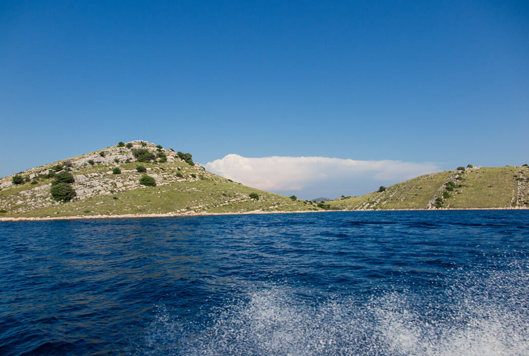 Bumpy ride in Kornati National Park, Croatia