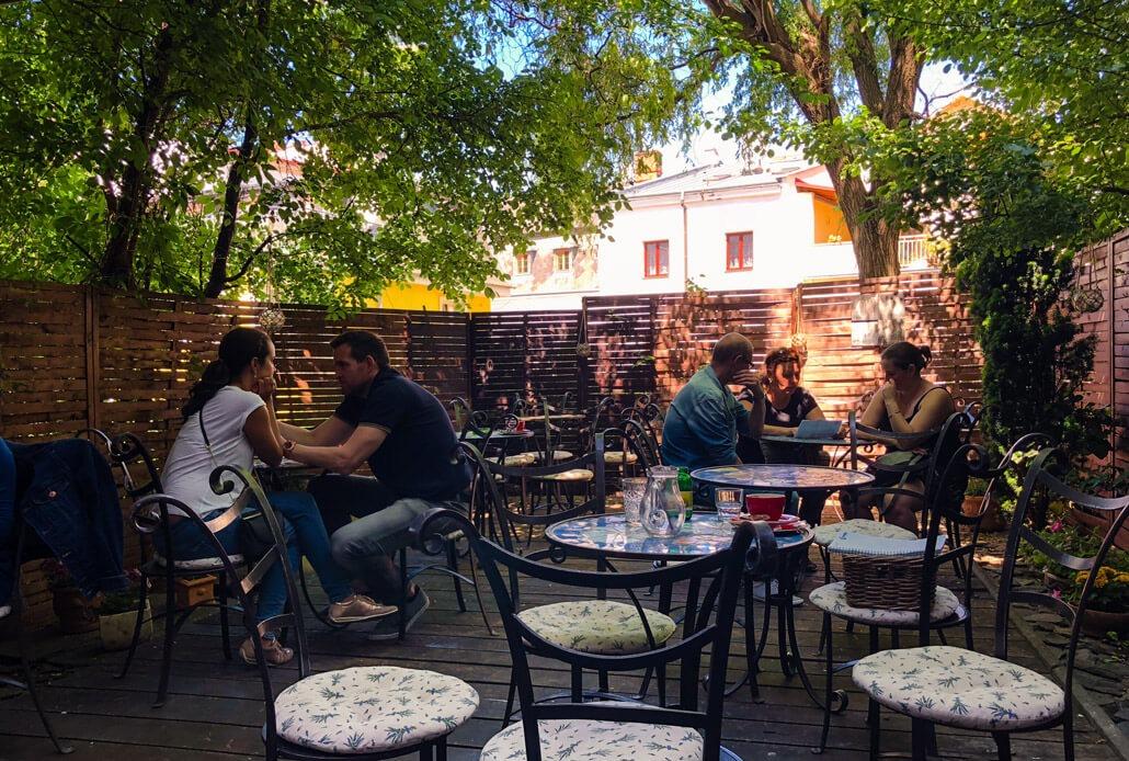 Café La Fée summer garden Olomouc