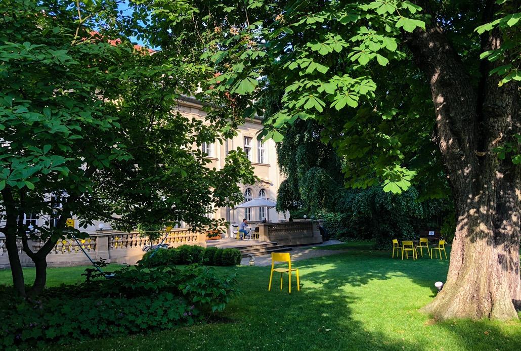 K10 Coworking Prague garden