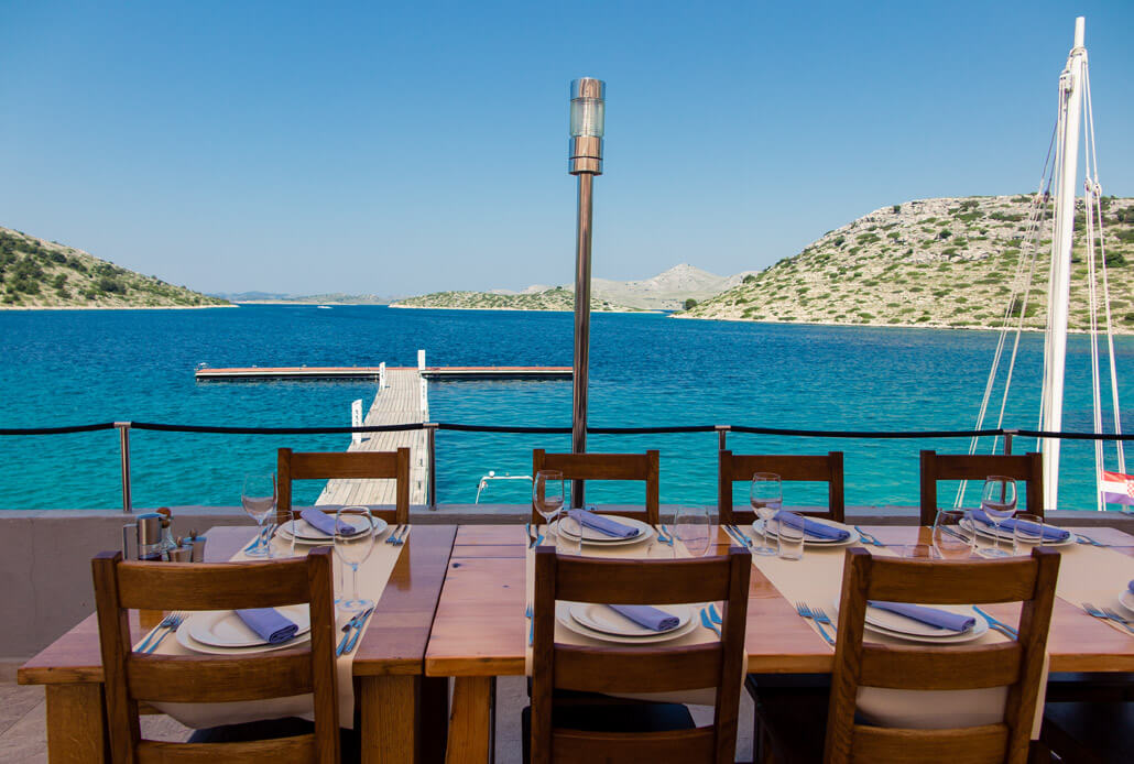 Lunch with a view on Levrnaka Island Kornati National Park