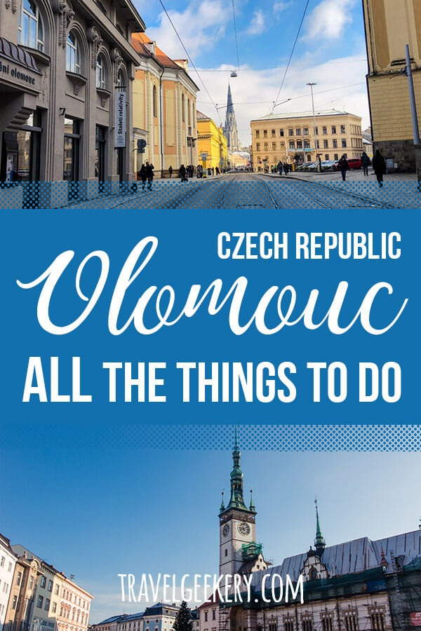 Collage of photos from Olomouc Czech Republic with Text Overlay: Olomouc All the Things to Do