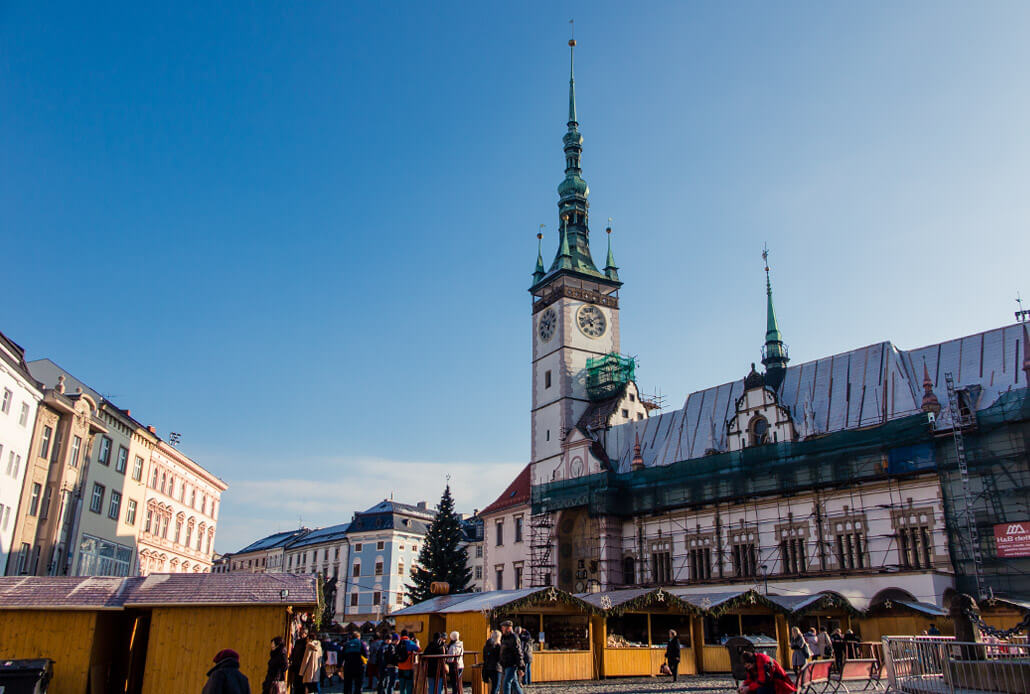 Olomouc Upper Square in winter
