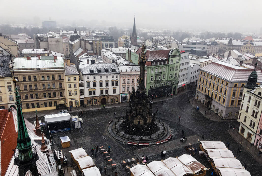 Pre-Christmas Upper Square in Olomouc
