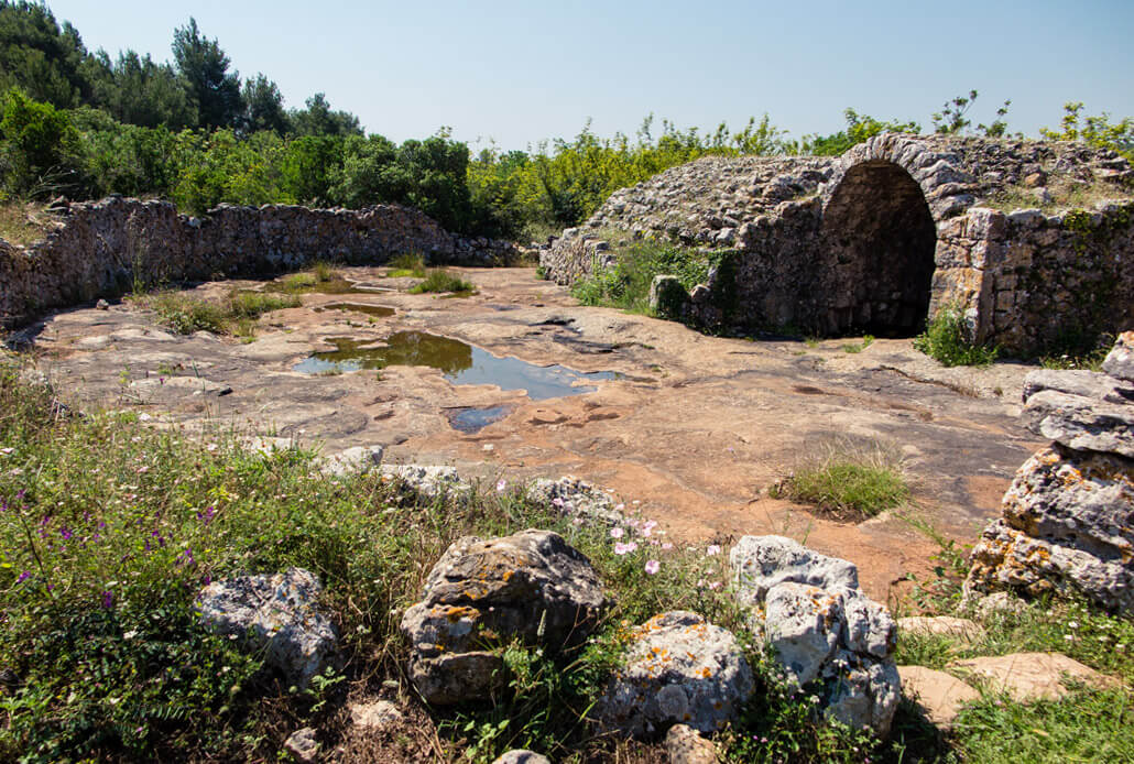 Remnants of the old Roman cistern near Vodice Croatia