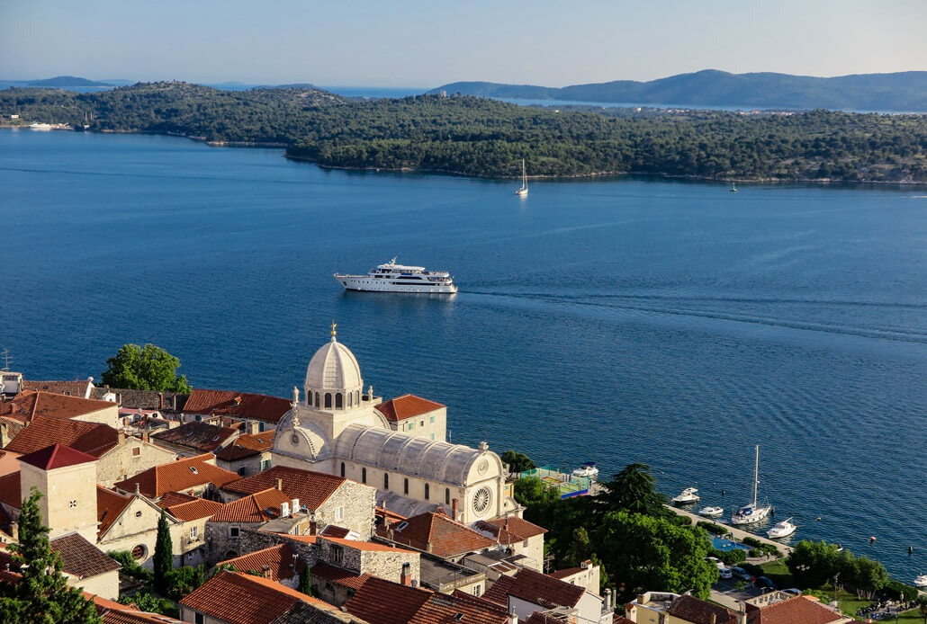 St. James Cathedral as viewed from the St. Michael Fortress Sibenik Croatia
