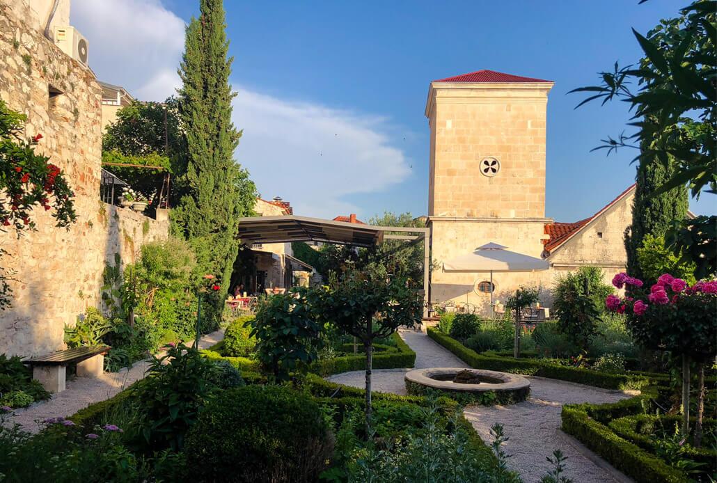 Garden of St. Lawrence Monastery Sibenik Croatia