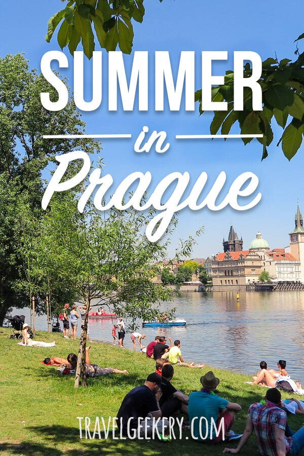 "Prague in summer can feel a bit too crowded if you stick to Old Town only. But let me show you what we locals do in the summer in Prague! The parks we go to, the festivals, the beer gardens, summer activities.. Check out this ""no BS"" guide to Prague in summer written by me, a Czech :) #prague #czechrepublic #czechia #summer #localtips"