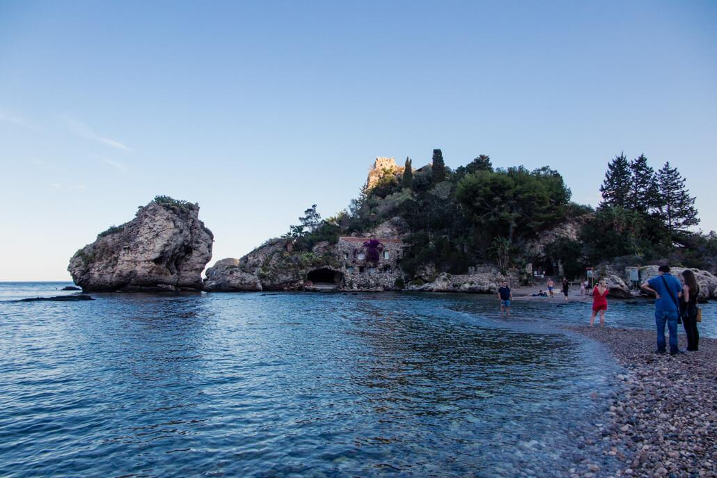 Isola Bella Island Taormina Sicily Italy