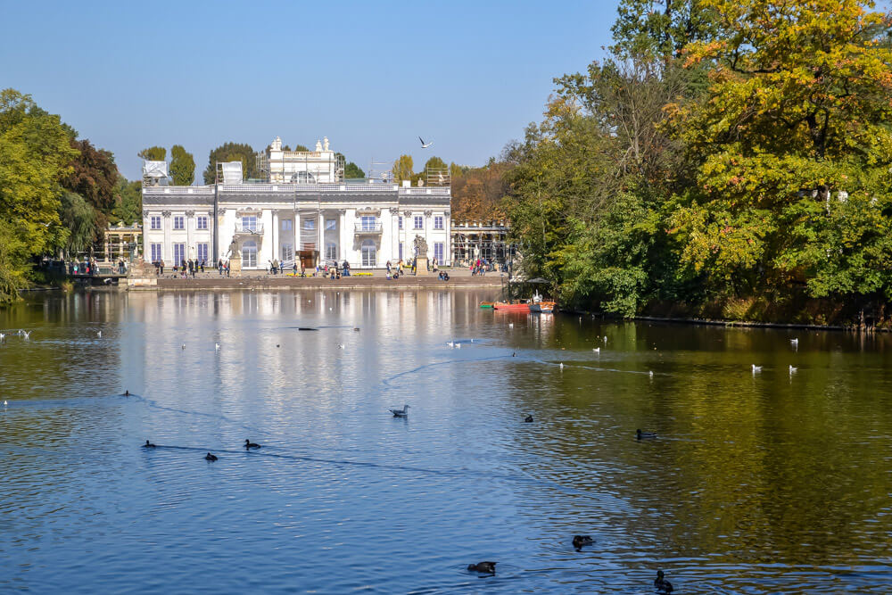 King's Summer Palace in Lazienki Park Warsaw Poland