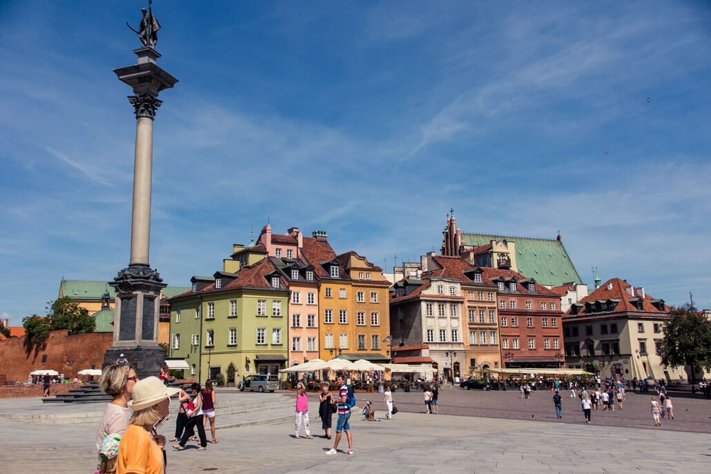 Castle Square in Old Town Warsaw Poland