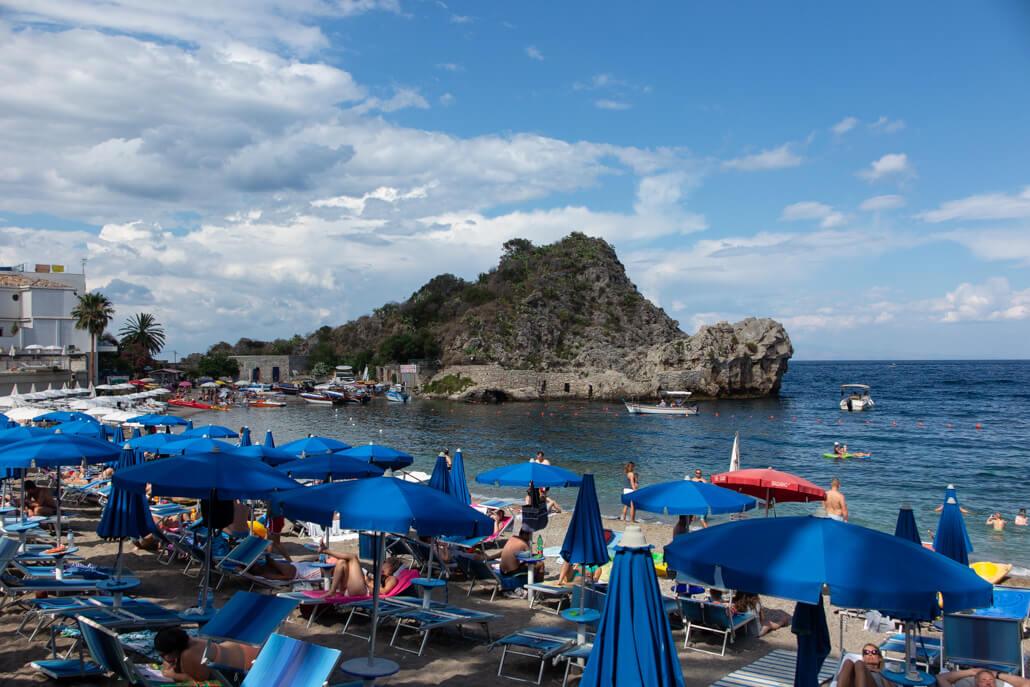 Mazzaro Beach Taormina Italy
