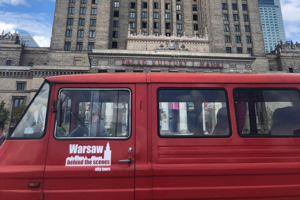 Communist tour of Warsaw Poland