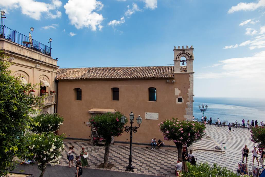 Sant'Agostino Church on Piazza IX Aprile Taormina
