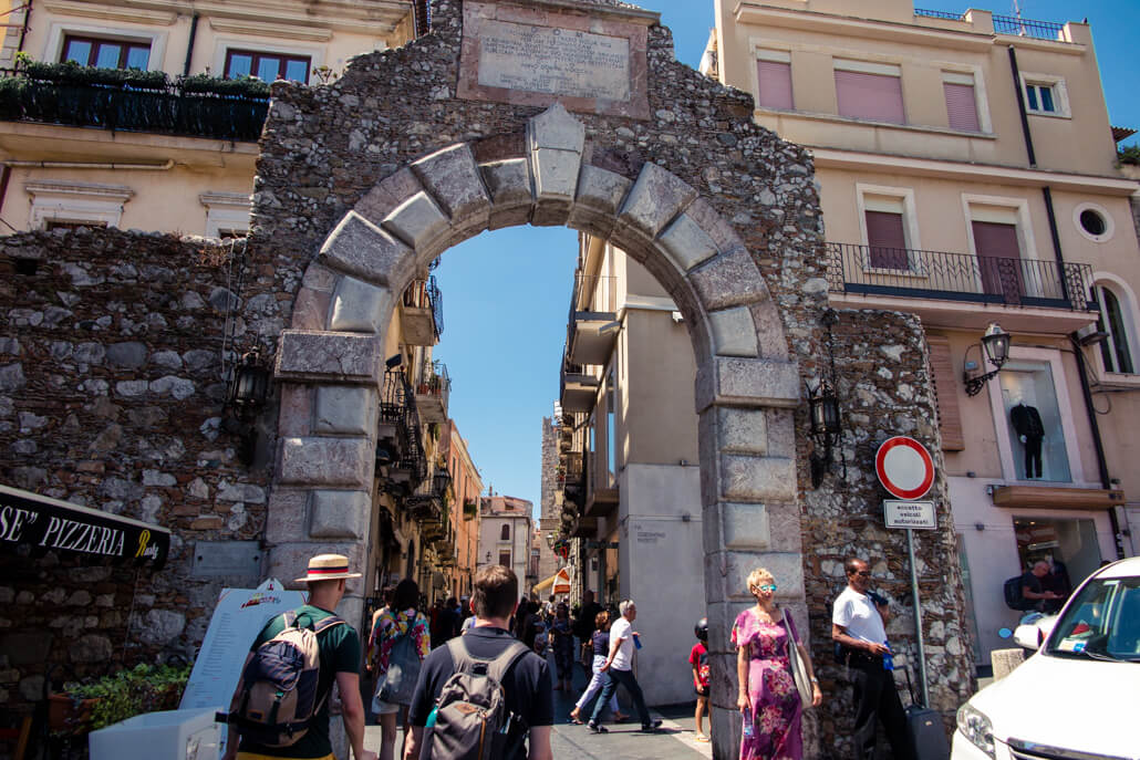 The gate to Taormina: Porta Messina