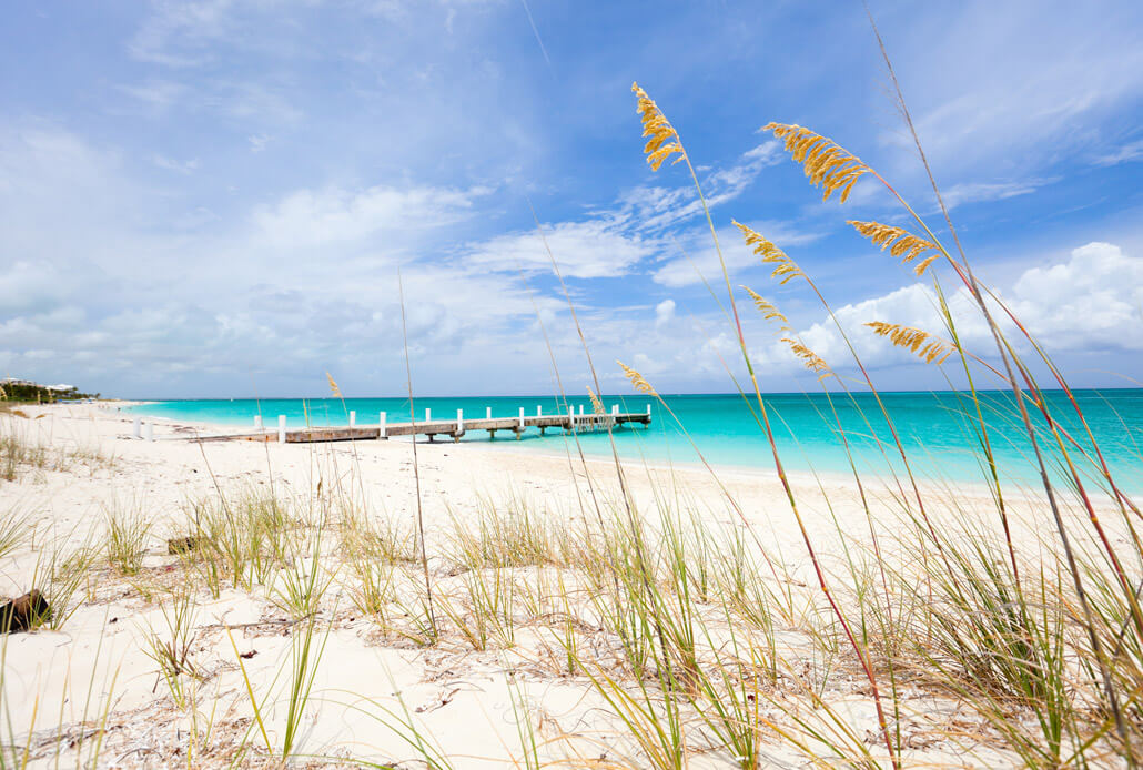 Beach on Providenciales Island Turks and Caicos
